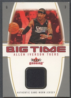 2004/05 Fleer Genuine #AI Allen Iverson Big Time Game Used Jersey #03/49