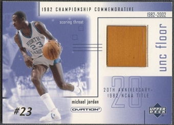 2001/02 Upper Deck Ovation #MJF2 Michael Jordan MJ UNC Memorabilia Floor