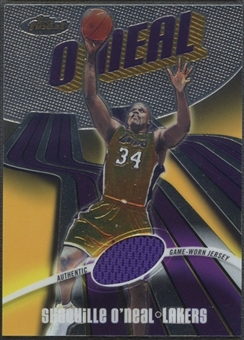 2003/04 Finest #130 Shaquille O'Neal Jersey #187/999