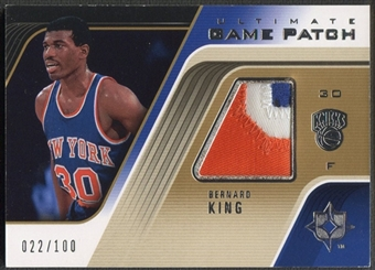 2004/05 Ultimate Collection #BK Bernard King Game Patch #022/100