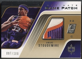 2004/05 Ultimate Collection #AS Amare Stoudemire Game Patch #097/100