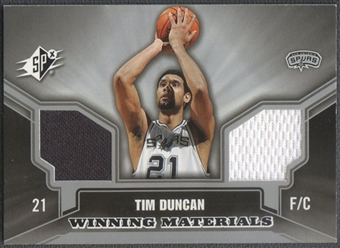2005/06 SPx #TD Tim Duncan Winning Materials Jersey