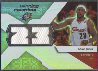 2008/09 SPx #WMJLJ LeBron James Winning Materials Jersey Numbers Jersey