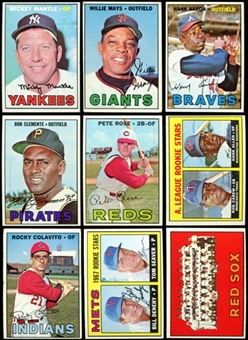 1967 Topps Baseball Near Complete Set (608/609) (EX / EX-MT)