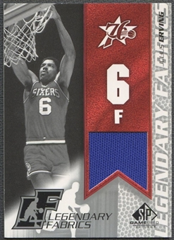 2003/04 SP Game Used #JEL Julius Erving Legendary Fabrics Jersey