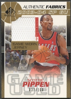 2003/04 SP Game Used #SPJ Scottie Pippen Authentic Fabrics Gold Jersey #037/100