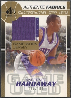 2003/04 SP Game Used #AHJ Anfernee Hardaway Authentic Fabrics Gold Jersey #047/100