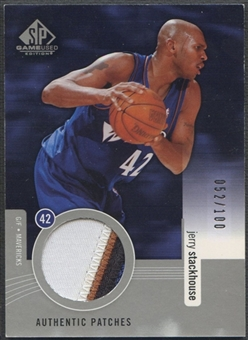 2004/05 SP Game Used #JS Jerry Stackhouse Authentic Patch #052/100