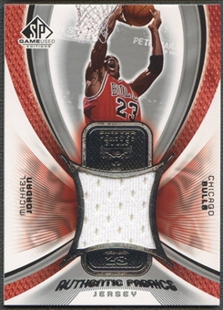 2005/06 SP Game Used #MJ Michael Jordan Authentic Fabrics Jersey