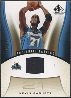 2006/07 SP Game Used #155 Kevin Garnett Gold Jersey #043/100