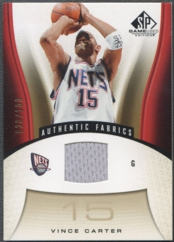 2006/07 SP Game Used #158 Vince Carter Gold Jersey #020/100