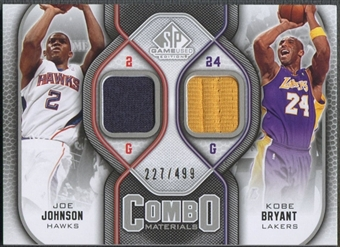 2009/10 SP Game Used #CMJK Joe Johnson & Kobe Bryant Combo Materials Jersey #227/499