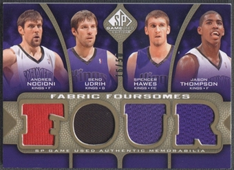 2009/10 SP Game Used #F4MUDT Andres Nocioni Spencer Hawes Beno Udrih Jason Thompson Jersey #16/50
