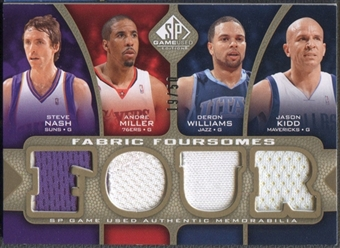 2009/10 SP Game Used #F4NKMW Steve Nash Deron Williams Andre Miller Jason Kidd Fabric Foursomes Jersey #19/50