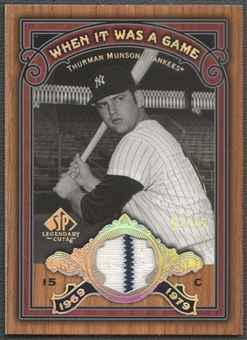 2006 SP Legendary Cuts #TM Thurman Munson When It Was A Game Materials Pants #52/75