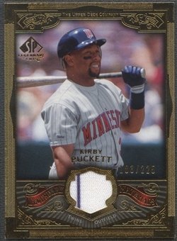 2006 SP Legendary Cuts #KP Kirby Puckett Legendary Materials Gold Jersey #183/225