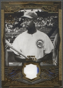 2006 SP Legendary Cuts #EB Ernie Banks Legendary Materials Gold Jersey #087/225