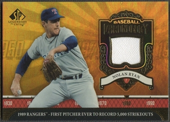 2006 SP Legendary Cuts #NR2 Nolan Ryan Baseball Chronology Materials Jersey