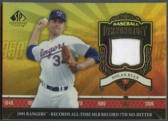 2006 SP Legendary Cuts #NR3 Nolan Ryan Baseball Chronology Materials 7th No-Hitter Jersey