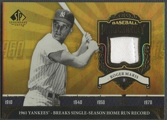 2006 SP Legendary Cuts #RM Roger Maris Baseball Chronology Materials Jersey