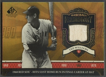 2006 SP Legendary Cuts #TW Ted Williams Baseball Chronology Materials Jersey
