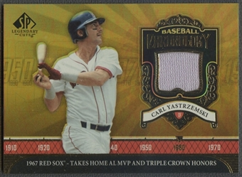2006 SP Legendary Cuts #YZ Carl Yastrzemski Baseball Chronology Materials Jersey