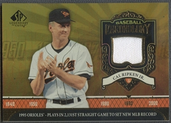 2006 SP Legendary Cuts #CR Cal Ripken Baseball Chronology Materials Pants
