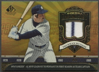 2006 SP Legendary Cuts #TM Thurman Munson Baseball Chronology Materials Jersey