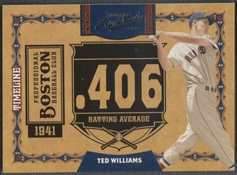 2008 Playoff Prime Cuts #37 Ted Williams Timeline #28/50