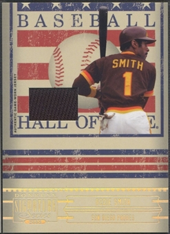 2005 Donruss Signature #23 Ozzie Smith Hall of Fame Material Jersey