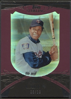 2010 Topps Sterling #121 Rod Carew Framed Burgundy #06/10