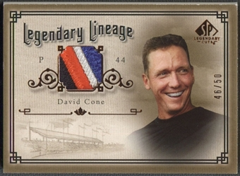 2005 SP Legendary Cuts #DC David Cone Legendary Lineage Patch #46/50