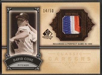 2005 SP Legendary Cuts #DC David Cone Classic Careers Patch #14/50