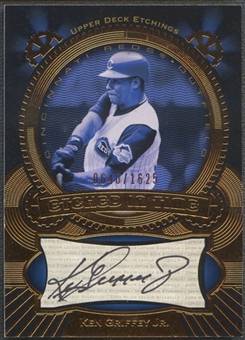 2004 Upper Deck Etchings #KG Ken Griffey Jr. Etched in Time Black Auto #0640/1625