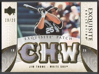 2006 Exquisite Collection #JT Jim Thome Patch #19/25
