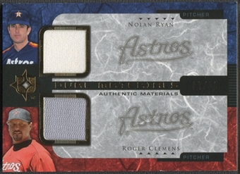 2005 Ultimate Collection #RC Nolan Ryan & Roger Clemens Dual Materials Jersey #07/15