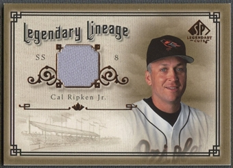 2005 SP Legendary Cuts #CR Cal Ripken Legendary Lineage Material Jersey