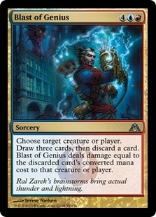 Magic the Gathering Dragon's Maze Single Blast of Genius Foil