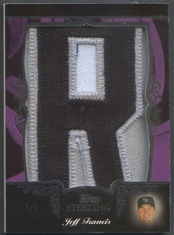 "2007 Topps Sterling Jeff Francis Letter ""R"" Patch #1/1"