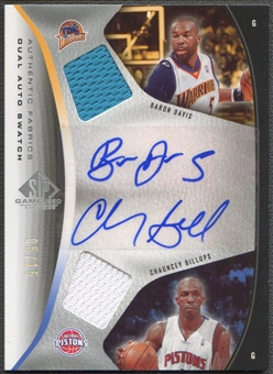 2006/07 SP Game Used #DB Baron Davis & Chauncey Billups Authentic Fabrics Dual Jersey Auto #05/15