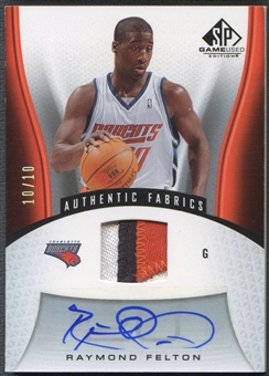2006/07 SP Game Used #107 Raymond Felton Patch Auto #10/10