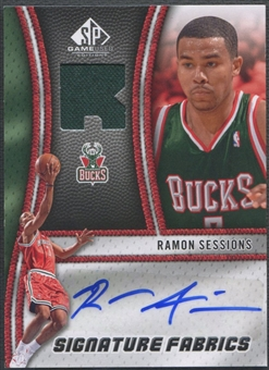 2009/10 SP Game Used #SFRS Ramon Sessions Signature Fabrics Jersey Auto
