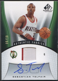 2006/07 SP Game Used #180 Sebastian Telfair Patch Auto #06/10