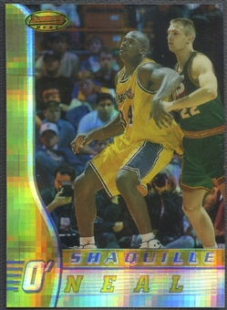 1996/97 Bowman's Best #70 Shaquille O'Neal Atomic Refractor