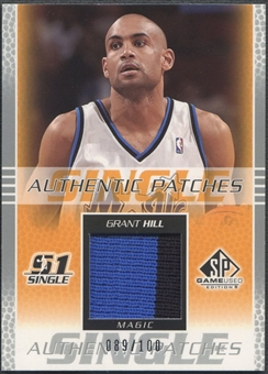 2003/04 SP Game Used #GHP Grant Hill Authentic Patch #089/100
