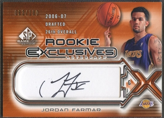 2006/07 SP Game Used #JF Jordan Farmar Rookie Exclusive Auto #093/100