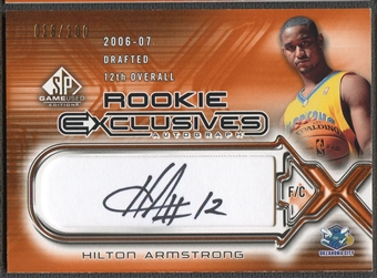 2006/07 SP Game Used #HA Hilton Armstrong Rookie Exclusive Auto #018/100