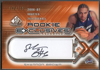 2006/07 SP Game Used #SB Shannon Brown Rookie Exclusive Auto #040/100