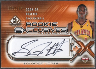 2006/07 SP Game Used #SJ Solomon Jones Rookie Exclusive Auto #006/100