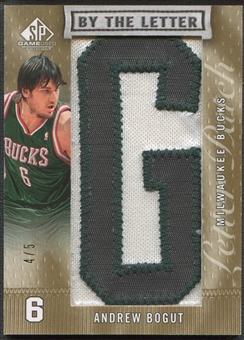 "2007/08 SP Game Used #BLAB Andrew Bogut By the Letter ""G"" Patch #4/5"